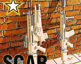3D model US Army SOF Combat Assault Rifle GEN III