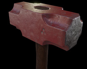 3D model realtime Hammer Low-Poly PBR Game Ready