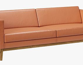 3D Swedese Madison Leather Sofa
