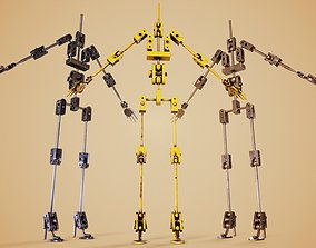 3D asset Animatronic Poseable Robot