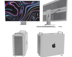 Apple Mac Pro and Pro Display 3D model