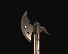 3D asset Knight axe