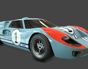 Ford GT40 Shelby MK2 1966 Rigged 3D asset