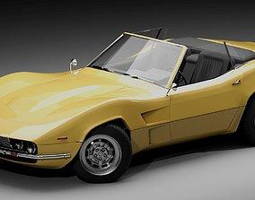 70s muscle-sports roadster 3D model