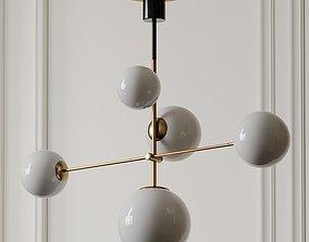 3D model Maxim Vesper Satin Brass and Black 5-Light 3