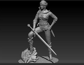 3D Ciri witcher3 54mm miniature