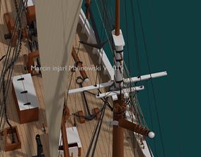 Bluenose 1921 schooner rigged historically 3D model