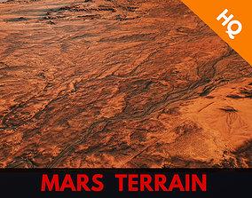 Mars Planet Landscape Desert Terrain 3D asset 3