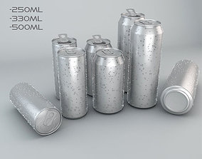 Beverage Cans In 3 Sizes 3D