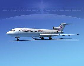 3D model Boeing 727-200 Tunisair
