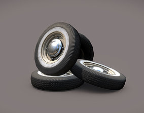 Car wheels ZAZ-965 3D asset low-poly