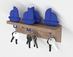Key holder and chain for 3D printing