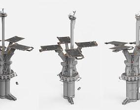 architectural sci-fi landing platform 3 3D