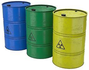 Barrel 3 Lowpoly 3D model low-poly