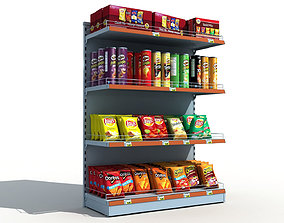 Supermarket Shelves Chips 3D model