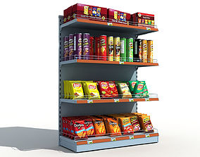 Supermarket Shelves Chips 3D model