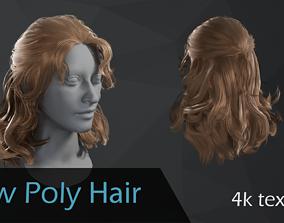 3D model Wavy hair
