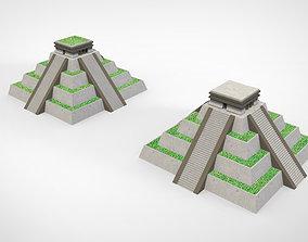 3D print model Aztec pyramid pot