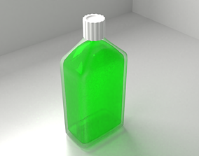 Medicine Bottle with Liquid 3D model
