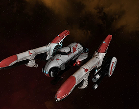3D model Rayship 2 Space Fighter PBR