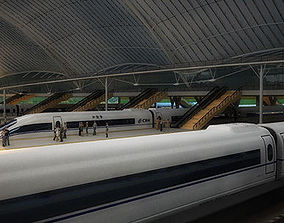 3D chinese High Speed railway station