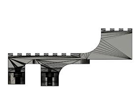 SS stepped rail for GLM320 3D print model