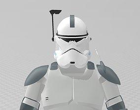 Star Wars Clone Commander Wolffe Full 3D printable model 1