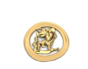 3D print model zodiac acquarius pendant