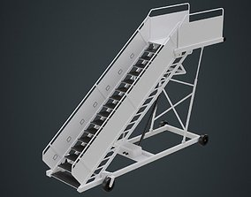 Airplane Stairs 1A 3D asset