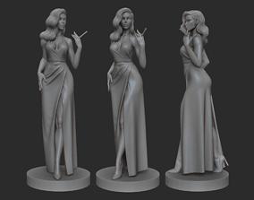 Noir woman 3D printable model