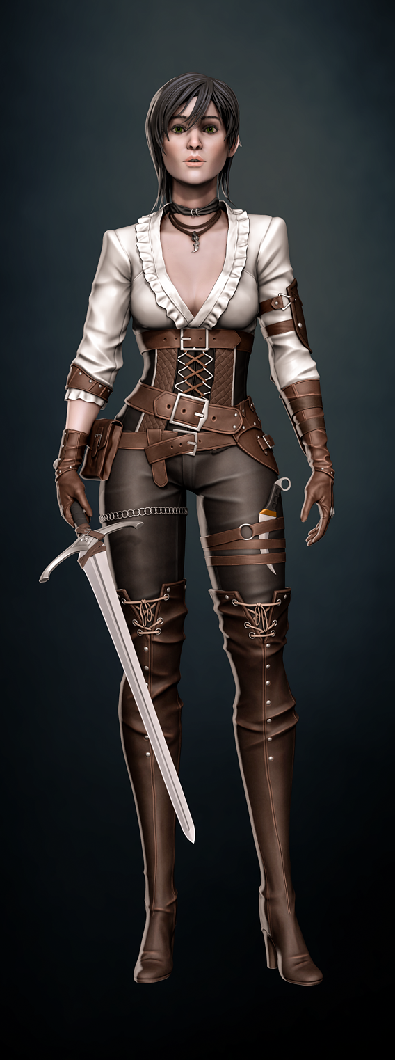 Female warrior character