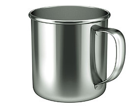camping 3D model Stainless Steel Cup