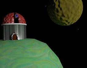 Telescope scene 3D model
