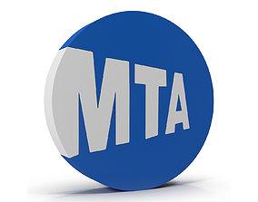New York Subway Logo 3D