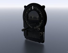JAPANESE MAGNETIC COMPASS 3D asset VR / AR ready