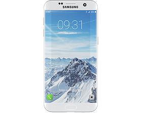 3D Galaxy S7 White