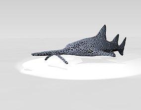 Saw shark Voronoi 3D model