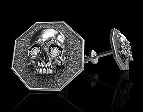 skull earrings studs 3D print model