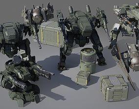 3D Sci-Fi Military Pack 1
