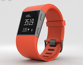 electronics 3D model Fitbit Surge Tangerine