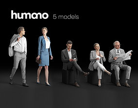 Humano 5-Pack - STREET - CAFE - RESTAURANT - 5x 3D models