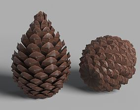 pinecone Pine Cone 3D model low-poly