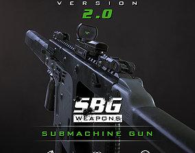 SBG Submachine Gun 3D model