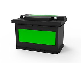 Car Battery 3D model low-poly
