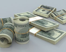 cash 3D model money