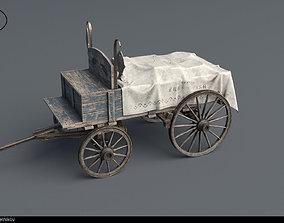 3D asset Horse Drawn Cart 2