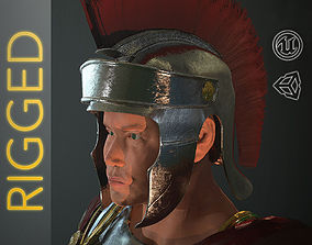 Roman Soldier Rigged 3D model game-ready