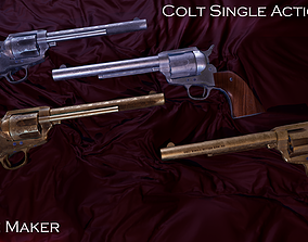 VR / AR ready Colt Single Action peace maker Game Ready