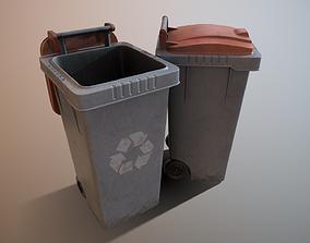 3D asset low-poly dustbin