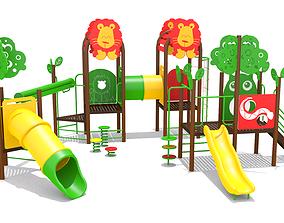 Lion Playground 3D model